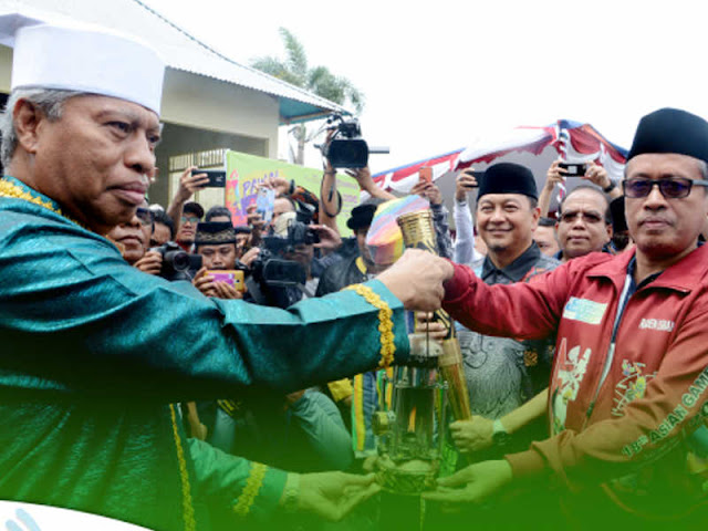 Burhan Abdurahman Pimpin Penyambutan Lentera Api Asian Para Games 2018 di Ternate