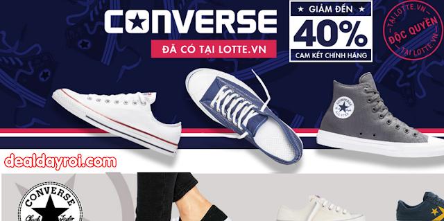 giày converse, lotte, deal khuyến mãi, deal đây rồi, thời trang giày dép
