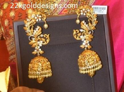 Kalyan Diamond Ear cuff Jhumkas