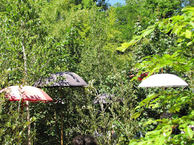 Umbrellas in garden bisplay at the International garden festival at Chaumont-sur-Loire