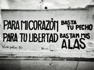"""Para mi corazón basta tu pecho. Para mi libertad bastan mis alas."" Pablo Neruda"