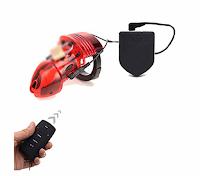 remote control electro shock male chastity device