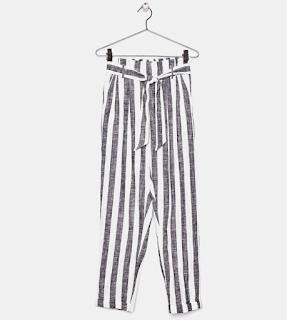 pantalon rayé -bershka