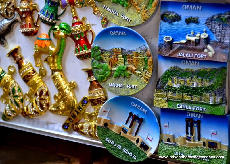 Oman Souvenirs in Mutrah Souq