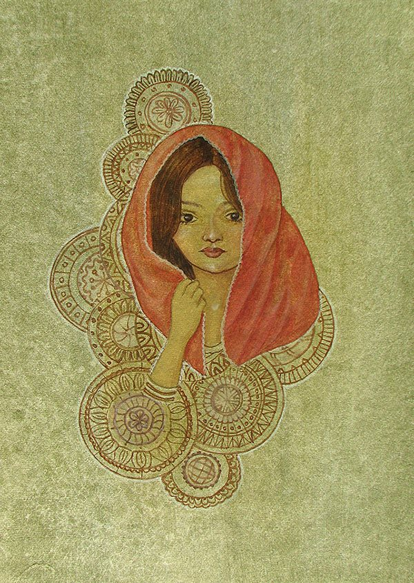 Painting by Biju P Mathew, Indian artist from Kerala