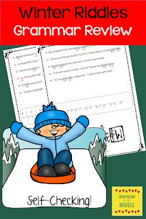 Winter riddles for grammar review