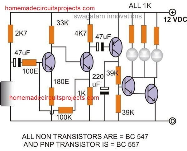 clap activated LED circuit