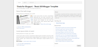 Thesis SEO - Template Blog SEO
