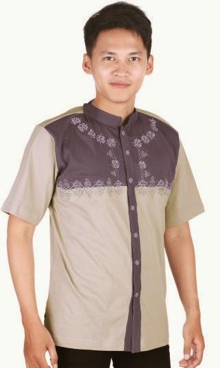 Model baju batik pria kombinasi polosModel baju batik pria kombinasi polos