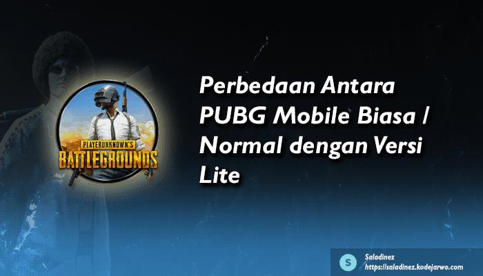 Perbedaan Antara PUBG Mobile Biasa / Normal dengan Versi Lite