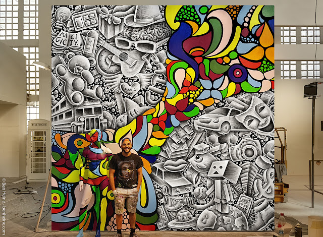 Artist Ben Heine at Street Art show Magic City (2016) - Drawing and Painting - #magiccitylife Dresden