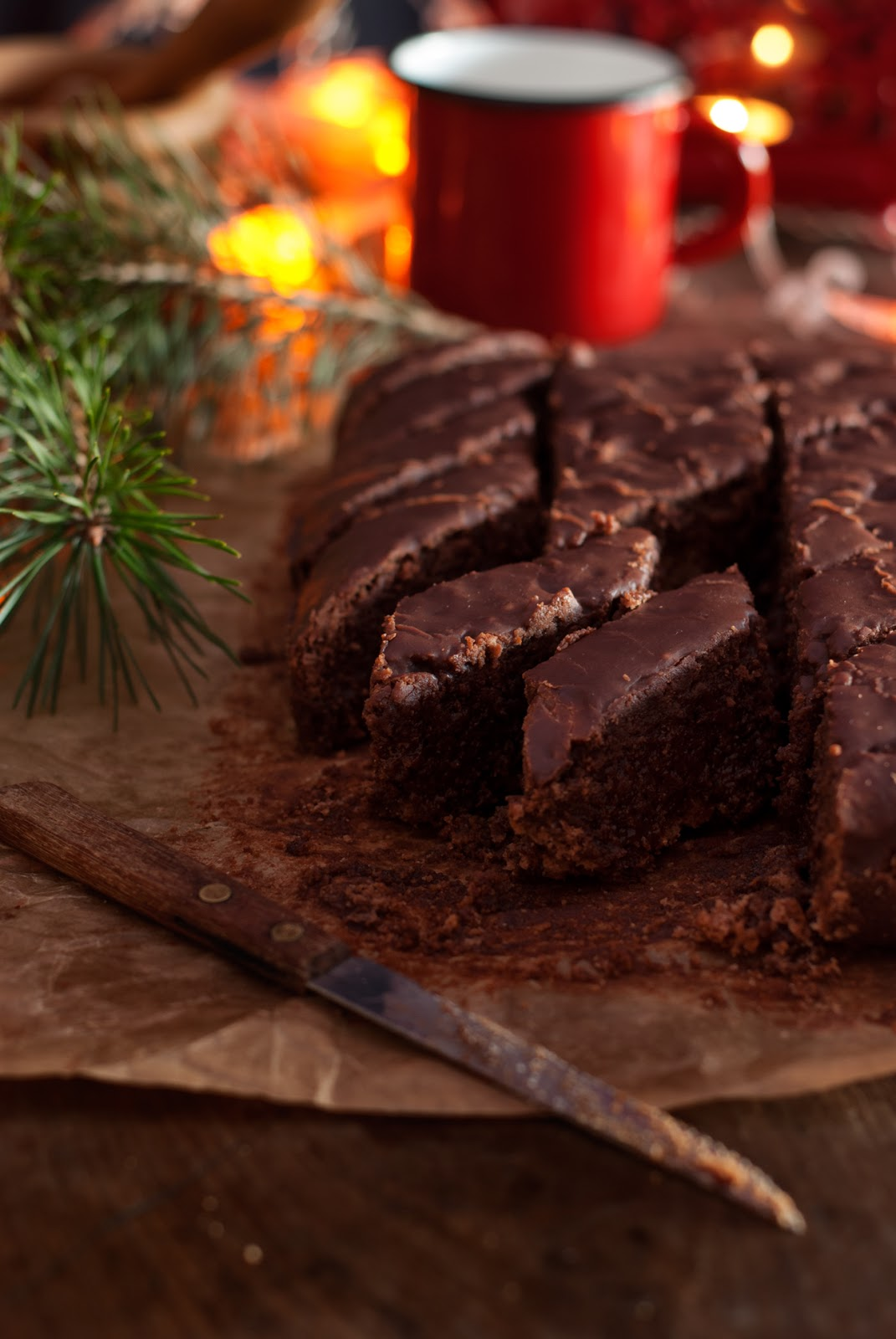 Bezglutenowe pierniczki z polewą czekoladową Magenbrot