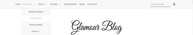 is to a greater extent than or less other massive production Developed past times  Glamour Blogger Template Free Download