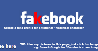 Fakebook Teacher S Tool To Creating Fake Facebook