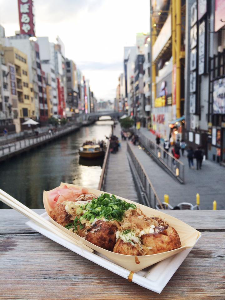 makanan jalanan takoyaki osaka