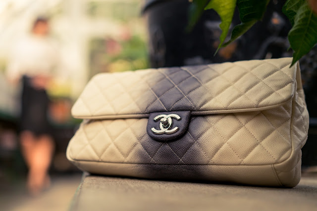 quilted chanel bag, ombre purse