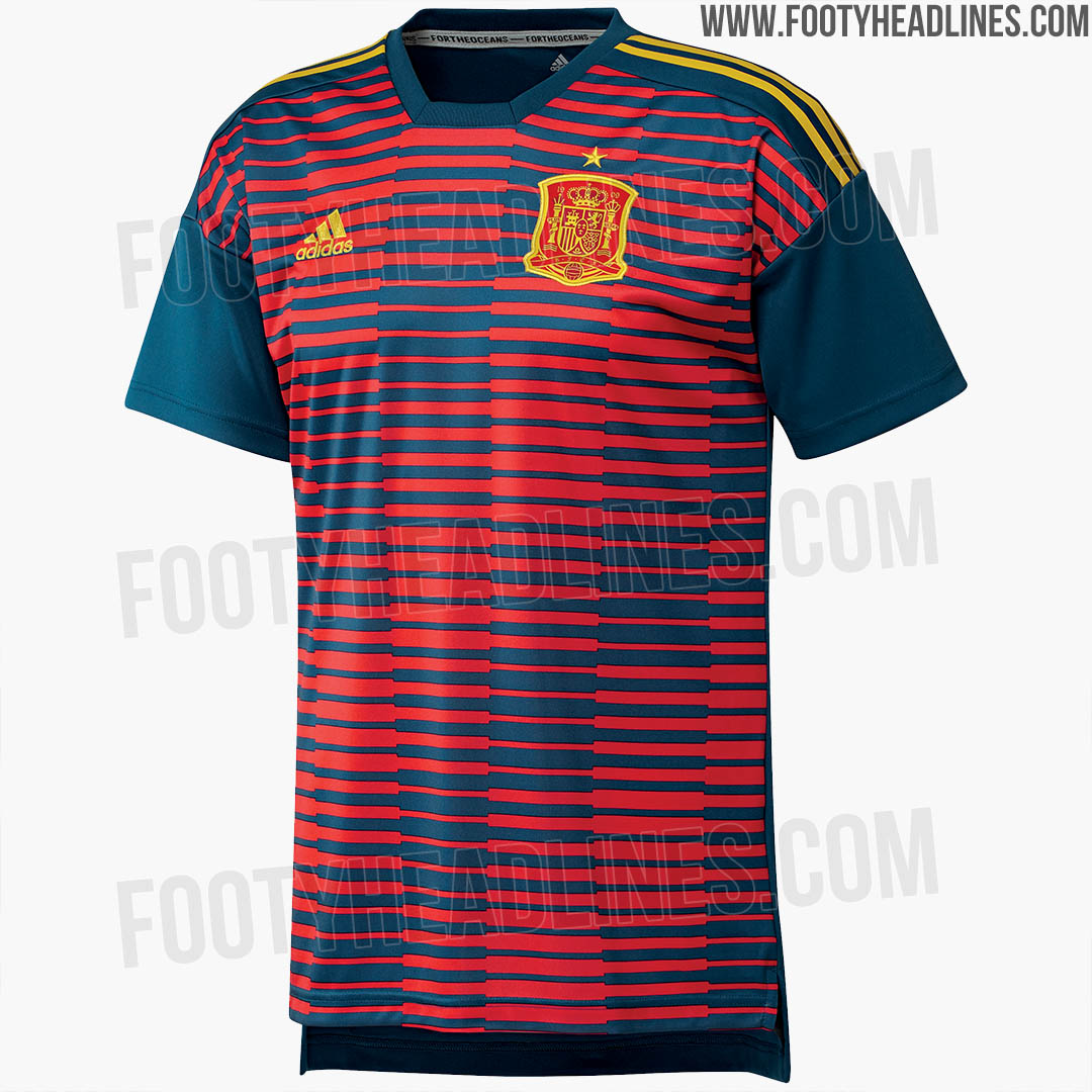 a3b039ce5 Discount Adidas Parley Spain 2018 World Cup Pre-Match Jersey Leaked
