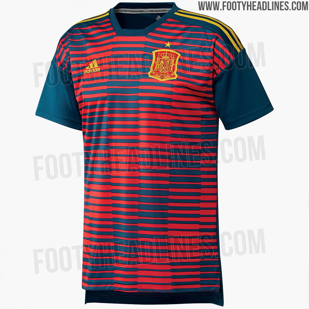 Camiseta prepartido España Rusia 2018