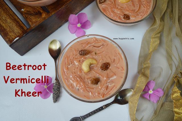 Beetroot Vermicelli Kheer Recipe | Beetroot Semiya payasam | Beetroot Kheer