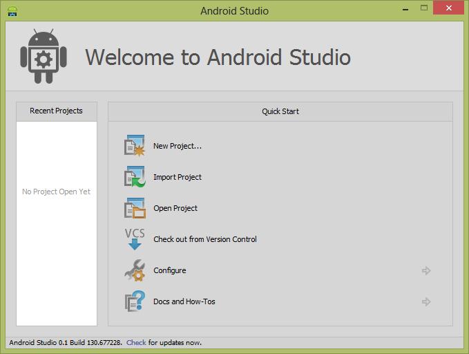 IT stuff: How to start Android Studio Windows 8 64bit?