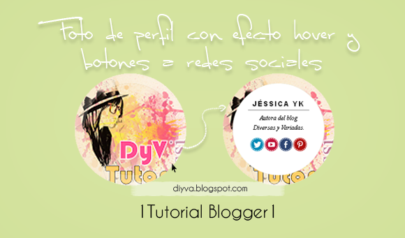 HTML, CSS, tutorial, blogger, efecto hover, effect, foto, perfil, redes sociales