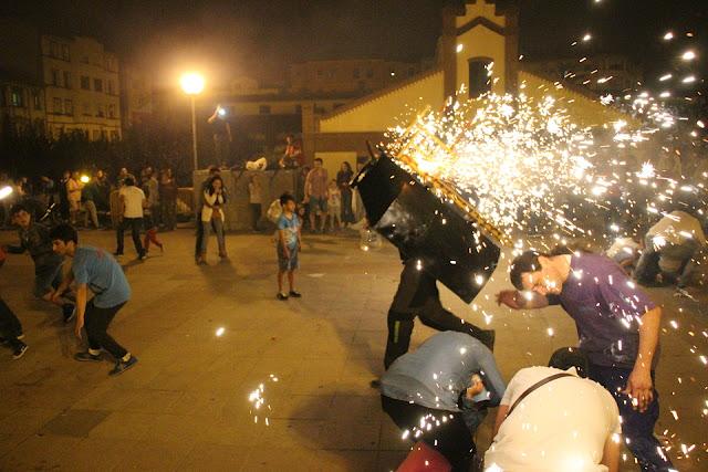 Toro de fuego en la sanjuanada del Ayuntamiento de 2016