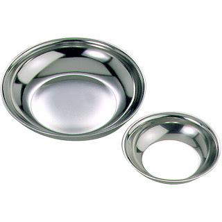 Farfurie pentru zahar/frisca din otel inoxidabil 6 in cutie - Ø 65 mm