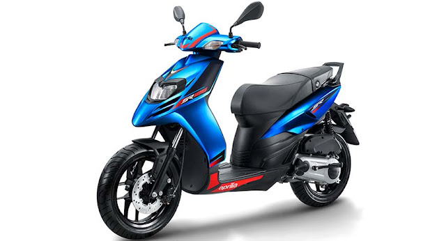 New Aprilia SR 125 Blue Picture