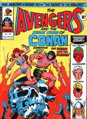 Marvel UK, Avengers #144, Conan and Red Sonja