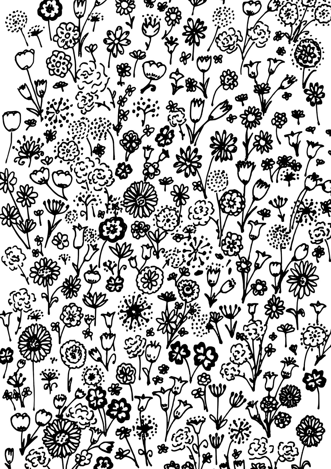 Free printable spring coloring