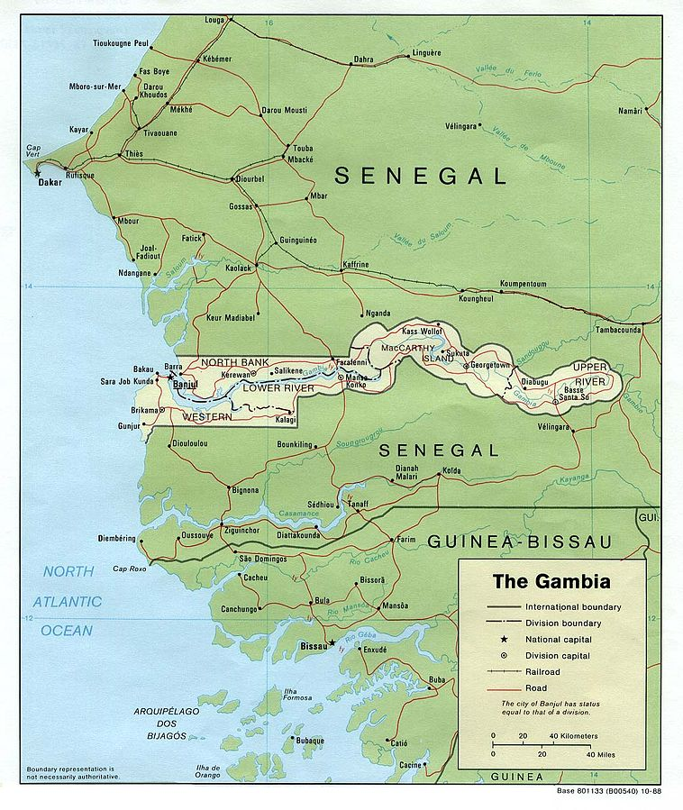Us Government Map Of The Gambia Source