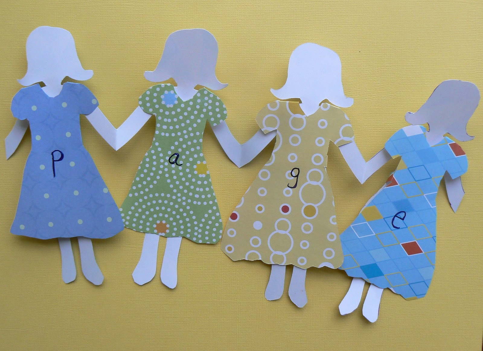 Having Fun At Home Word Family Paper Dolls