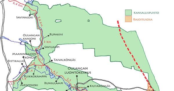 Oulangan Kansallispuisto Kartta