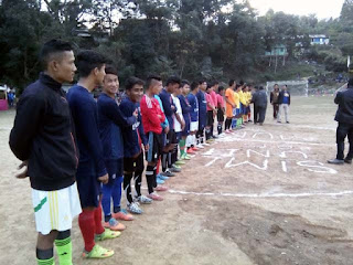 Football match in Sharda Ground Mungpoo