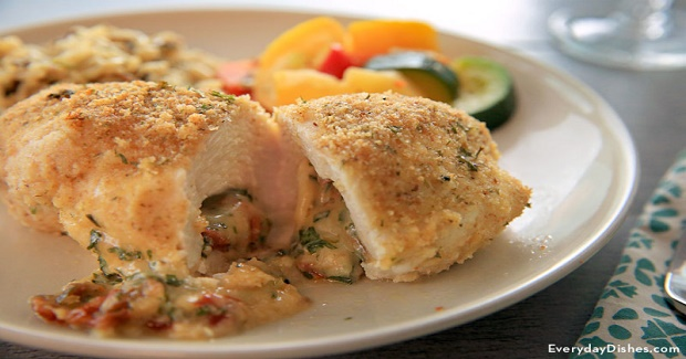 Easy Stuffed Chicken With Basil Recipe