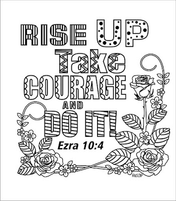 Rise up and take courage Ezra