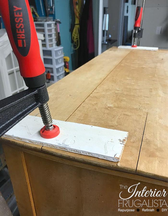 Serpentine Dresser Repaired Warped Top