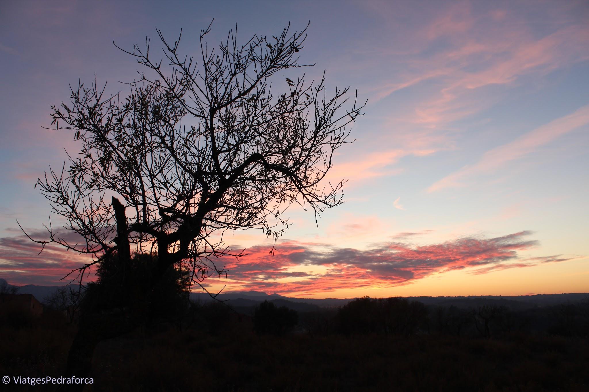 Ruta pel Matarranya i la Terra Alta, pobles amb encant, patrimoni cultural, Catalunya, Terres de l'Ebre, posta de sol