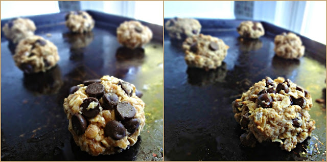 Healthy Oatmeal Almond Butter Chocolate Chip Cookies
