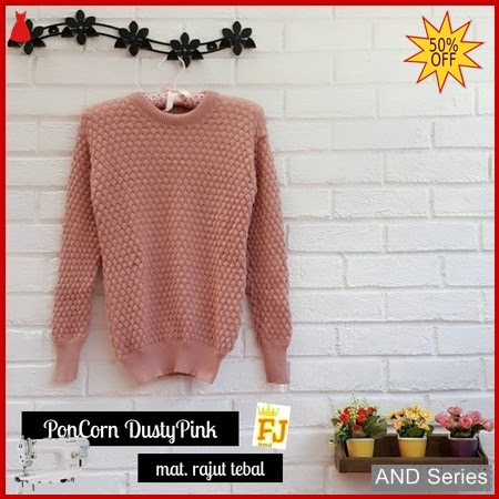 AND151 Baju Atasan Wanita Blouse Popcorn Dusty BMGShop