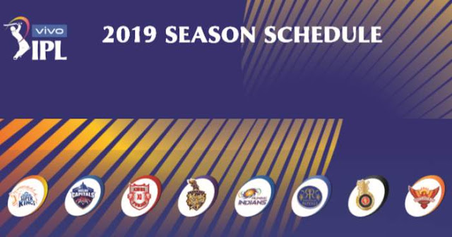 Download IPL 2019 Full Schedule