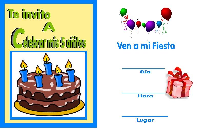invitaciones de cumpleaños para niños