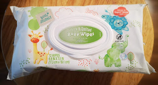 Single package of Little Journey Thick & Quilted Baby Wipes, from Aldi
