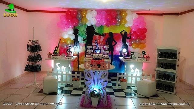 Decoração infantil tema Discoteca - festa de aniversário - Provençal com painel