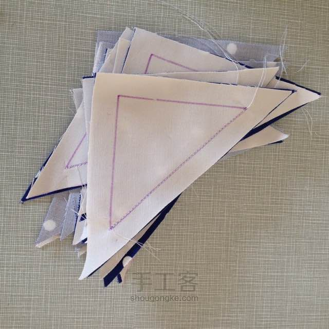 "Patchwork Quilt ""Windmill"" of triangles.  DIY step-by-step"
