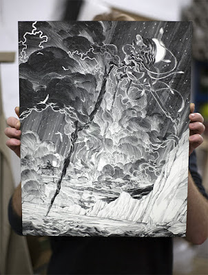 Thought Bubble 2016 Exclusive The War of the Worlds Laser-Etched Clayboard by Nicolas Delort x Black Dragon Press