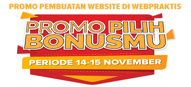 BIKIN WEBSITE .COM & TOKO ONLINE PILIH BONUS PERIODE 14 - 15 NOV 2015