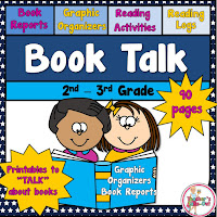 Book Talk is loaded with graphic organizers and book reports to talk about books