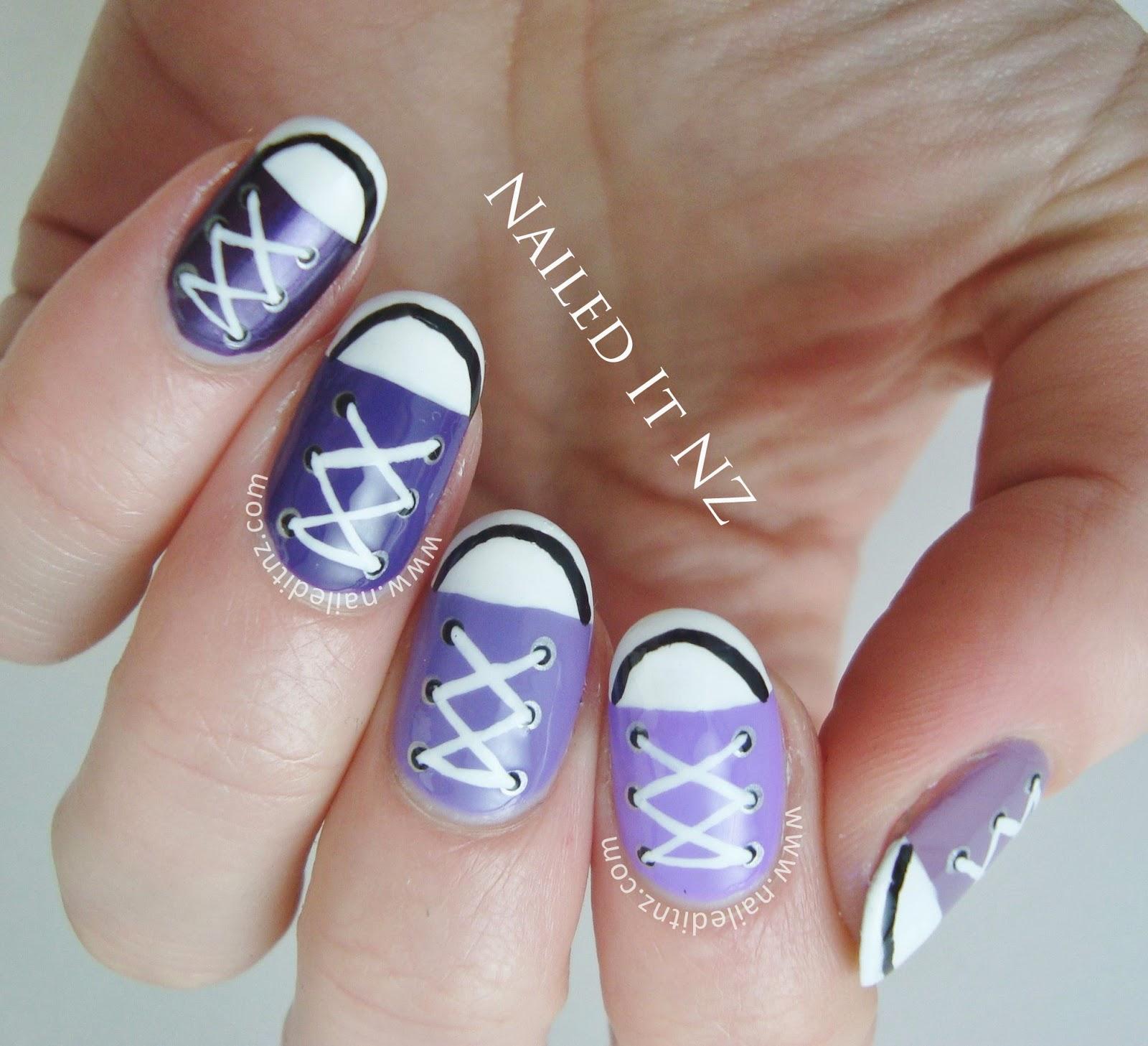 Nail Art Couture Converse Nail Art: Converse Nail Art Tutorial