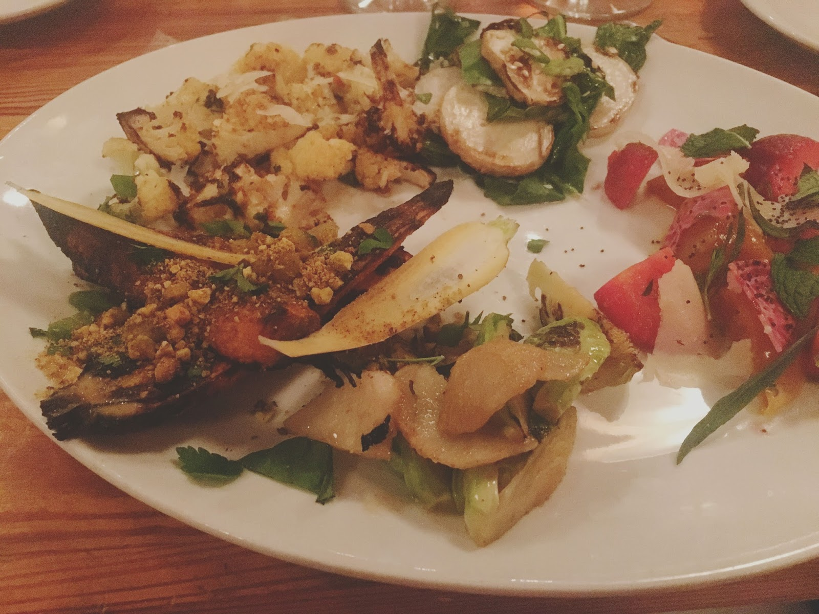 vegetarian platter at The Grocery - a restaurant in Charleston, South Carolina